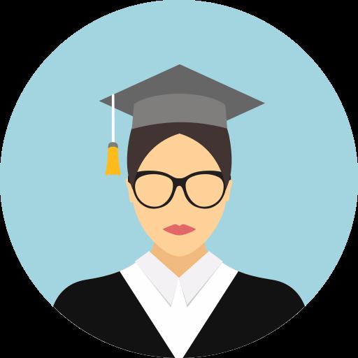 graduate, graduate cap, student icon