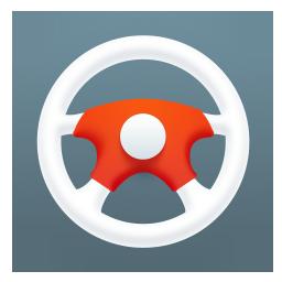 car, htc, steering wheel icon