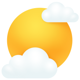 clouds, sun, weather icon