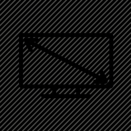Diagonal, display, smart, television, tv icon - Download on Iconfinder
