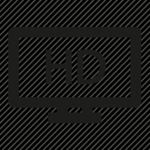 hd, lcd, plasma, television, tv icon