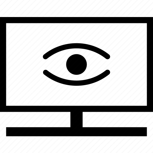 eye tv, view movie, view program, view television, view tv, view video, watch tv icon