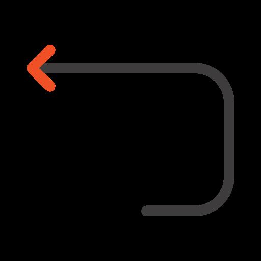 arrow, back, loop icon