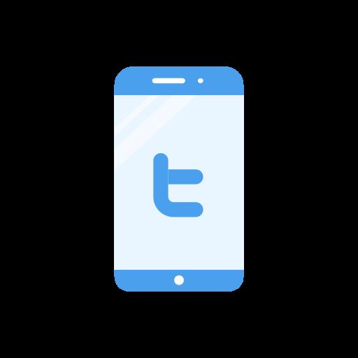 iphone, label, phone, twitter logo icon