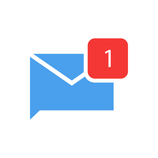 Comments, inbox, message, one message icon