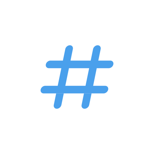 hashtag, number sign, tag, twitter icon