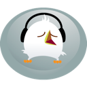 headphones, bird icon