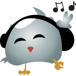 bird, headphines, twitter icon