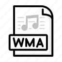 line, music, outline, song, type, wma