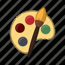 art, paint, brush, palette