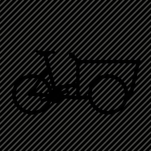 bicycle, bike, cargo icon