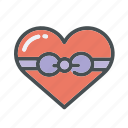 gift, heart, hearts, lock, love, valentines, wings icon