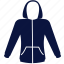 clothes, hoody, man, outdoor, pocket, sport icon