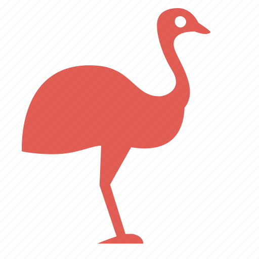 bird, cooking, farming, feather, food, ostrich, poultry icon