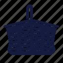 bag, basket, fashion, picnick, woman