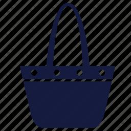 bag, beach, travel, woman icon