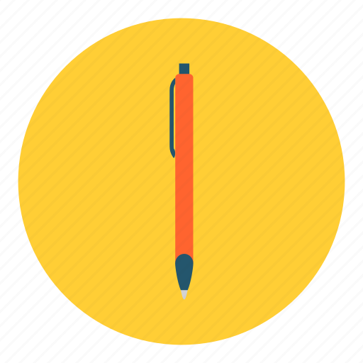 ballpoint, draw, education, pen, stationery, tool, write icon