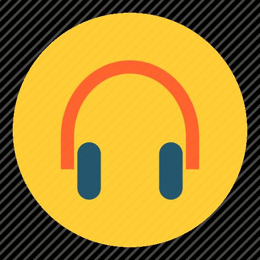 earphones, headphones, headset, listen, multimedia, music, songs icon