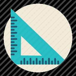 education, math, measure, ruler, school, science, tool icon