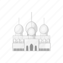 arab, cartoon, culture, east, mosque, sign, uae icon