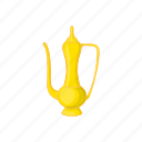 arabic, cartoon, drink, jug, liquid, sign, water icon