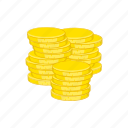 business, cartoon, coins, dollar, finance, gold, sign icon