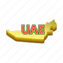 arab, cartoon, emirate, map, sign, uae, united icon