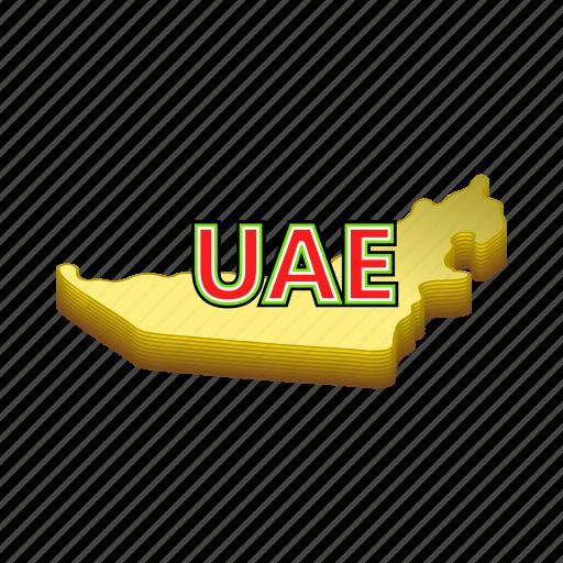 arab, cartoon, emirate, map, sign, uae, united icon