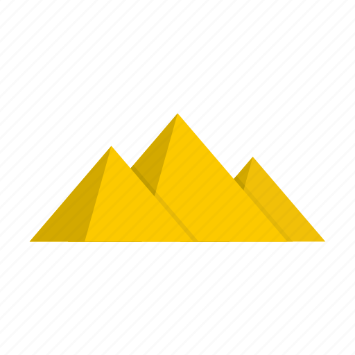 growth, logo, pyramide, spectrum, stacked, top, triangle icon