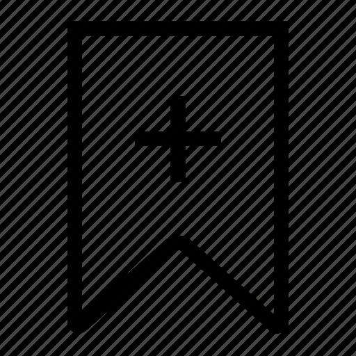 add, book, bookmark, favourite, read, remember, ribbon icon