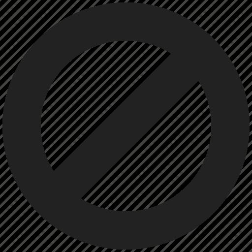 ban, block, cancel, delete, remove icon