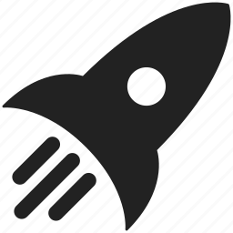 launch, power, racket, rocket, spaceship, startup icon