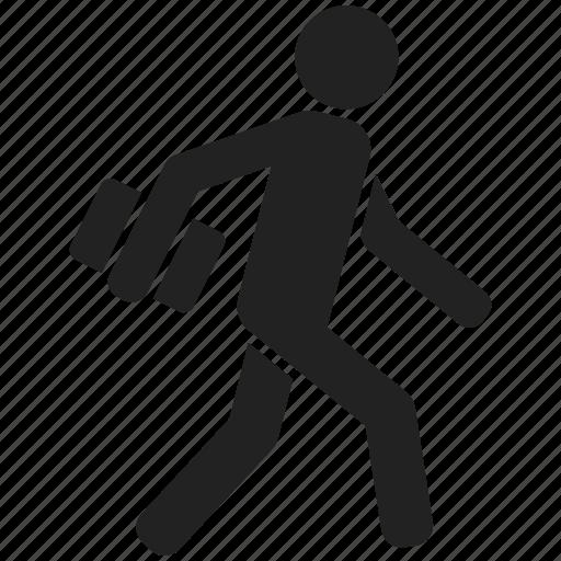 man, person, run, running, user, walk, work icon