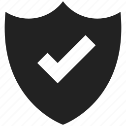 check, good, lock, protect, protection, security, shield icon