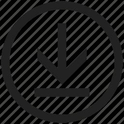 disk, down, download, guardar, save, storage icon