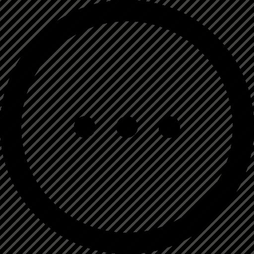 ellipsis, menu, more, progress, waiting icon