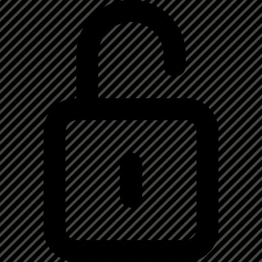 open, unfasten, unlatch, unlock, unlocked icon