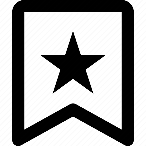 bookmark, choice, favorites bookmark, preferred, ribbon, star icon