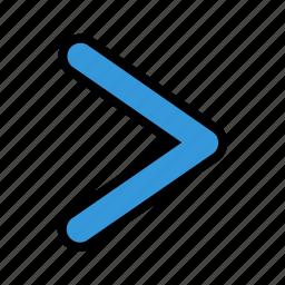 arrow, chevron, move, next, pointer, right icon