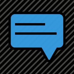 chat, comment, communication, conversation, message, messages, talk icon
