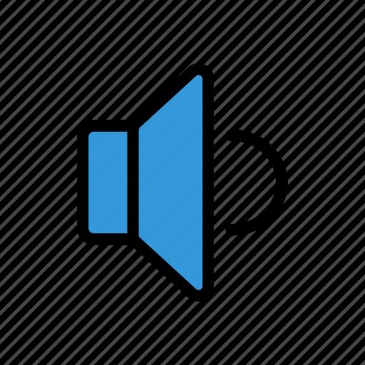 audio, media, on, sound, speaker icon
