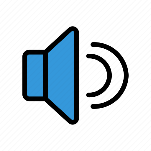 media, music, on, sound, speaker icon
