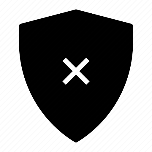 failed, protection, security, shield, virus icon