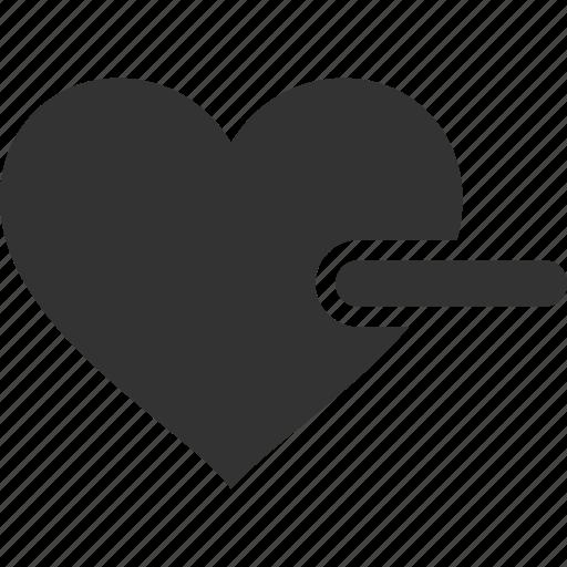 cancel, close, delete, dislike, heart, minus, remove icon