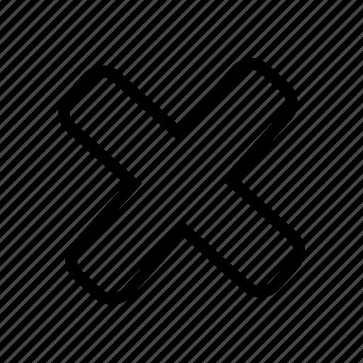 close, cross, no, remove, x icon