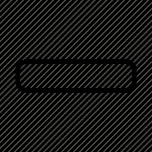 Delete, min, minus, remove icon - Download on Iconfinder