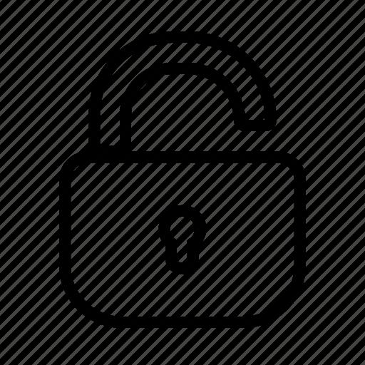 lock, opened, padlock, unlock icon