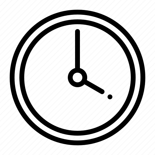 clock, general, time, ui, ux, watch icon