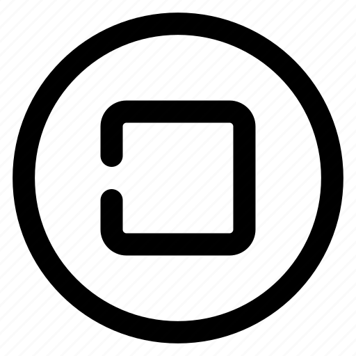 audio, basic, multimedia, music, stop, ui, video icon