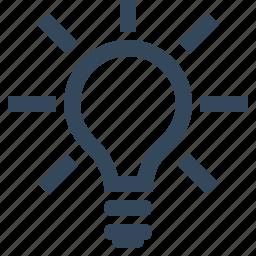 bulb, innovation, light, light bulb, tips icon